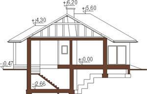 Projekt domu L-5556 - przekrój