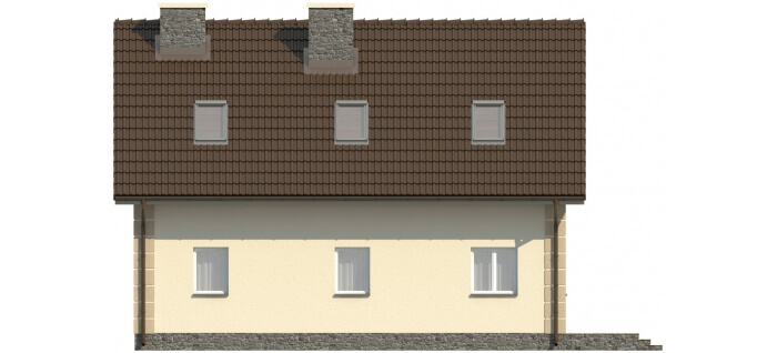 Projekt domu L-5570 - elewacja