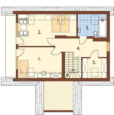 Projekt domu L-5570 - rzut