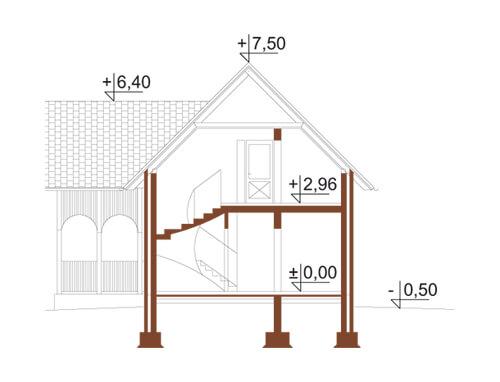 Projekt domu L-5570 - przekrój
