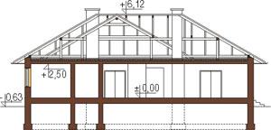 Projekt domu L-5572 - przekrój