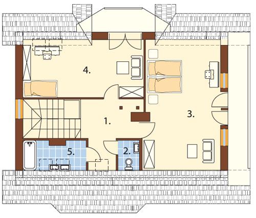 Projekt domu L-5573 - rzut