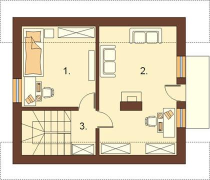 Projekt domu L-5582 - rzut