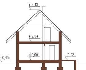 Projekt domu L-5582 - przekrój