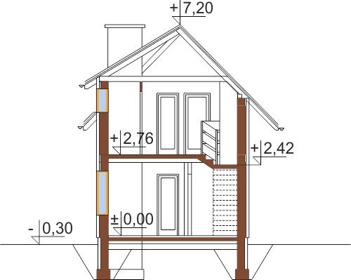 Projekt domu L-5588 - przekrój