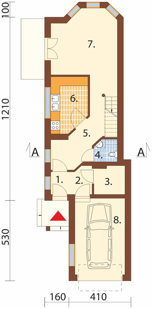 Projekt domu L-5588 - rzut