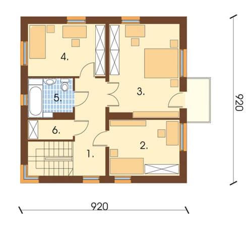 Projekt domu L-5591 - rzut