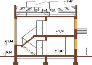 Projekt domu L-5591 - przekrój
