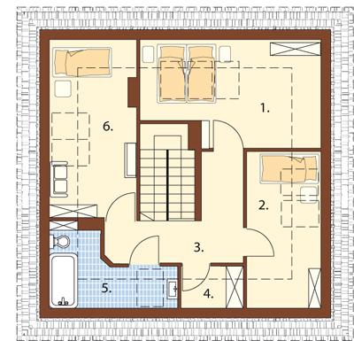 Projekt domu L-5597 - rzut