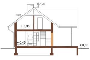 Projekt domu L-6004 - przekrój