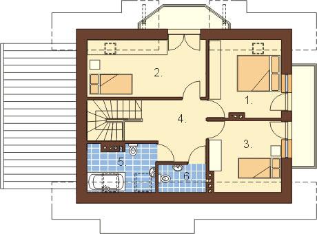 Projekt domu L-6006 - rzut