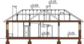 Projekt domu L-6018 - przekrój