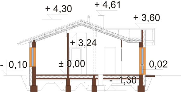Projekt domu L-6033 - przekrój