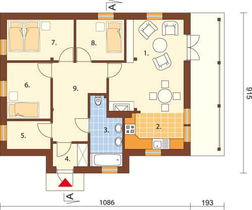 Projekt domu L-6033 - rzut