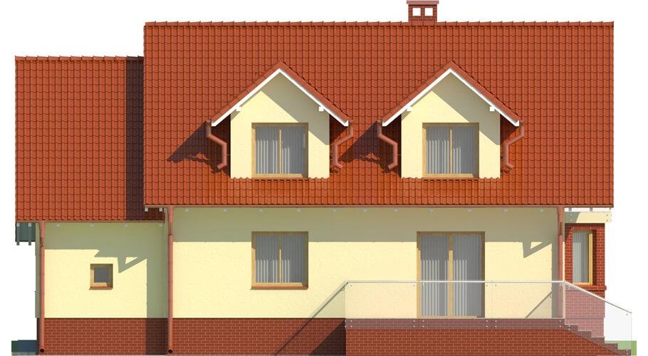 Projekt domu L-6040 - elewacja