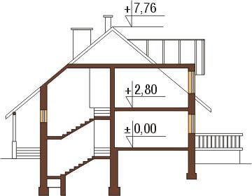 Projekt domu L-6040 - przekrój