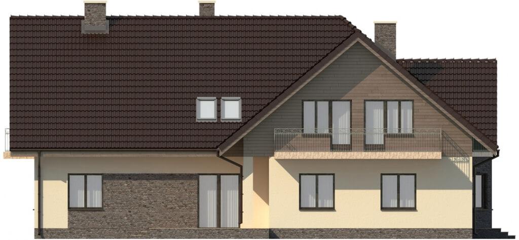 Projekt domu L-6044 - elewacja