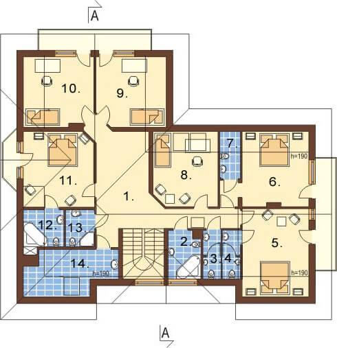 Projekt domu L-6044 - rzut