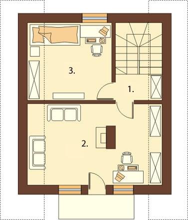 Projekt domu DM-5582 - rzut