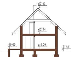 Projekt domu DM-5582 - przekrój
