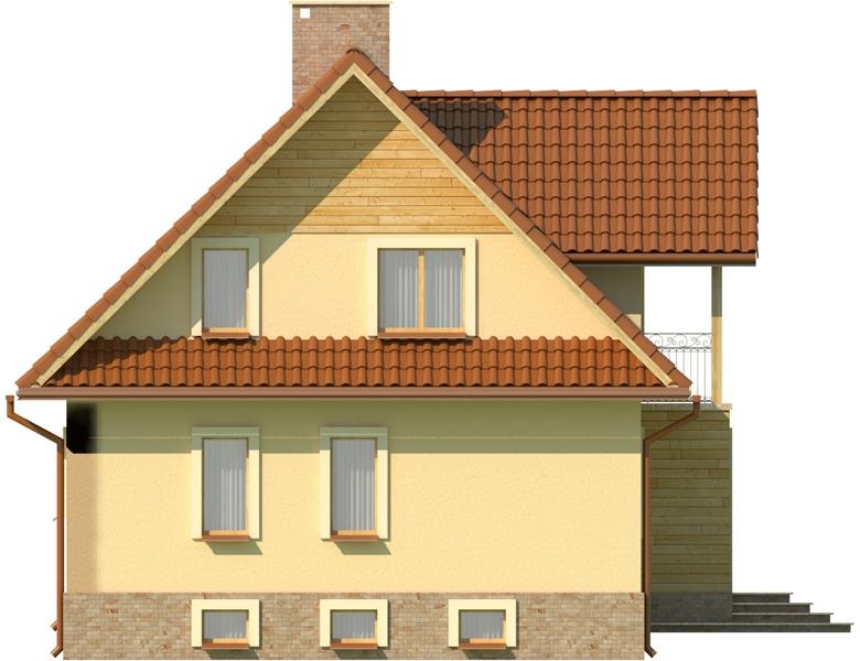 Projekt domu L-6051 - elewacja