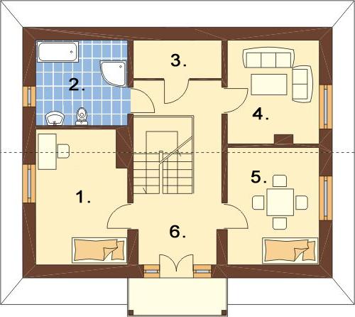 Projekt domu L-6051 - rzut