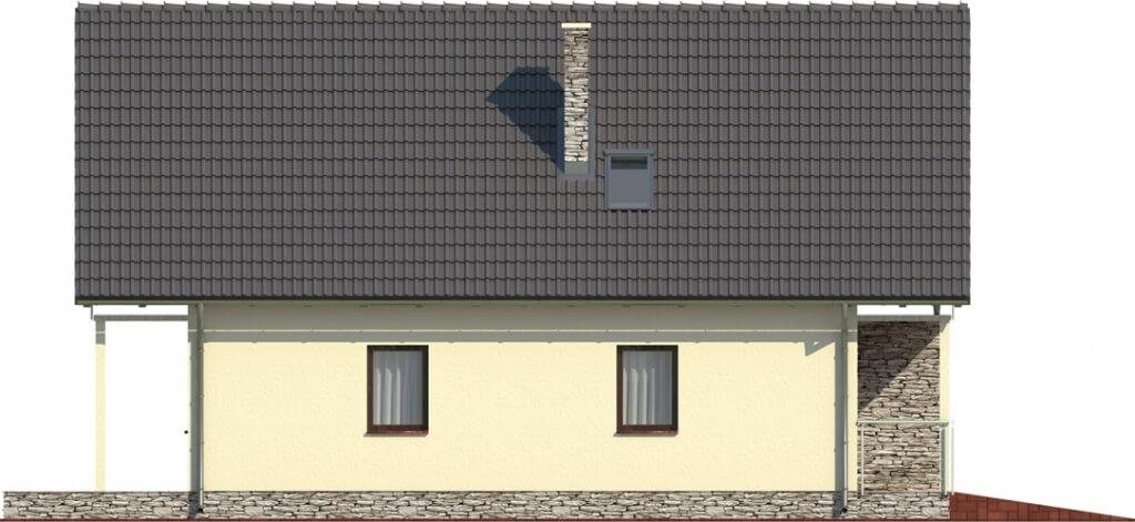 Projekt domu L-6055 - elewacja