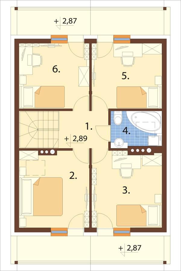 Projekt domu L-6055 - rzut