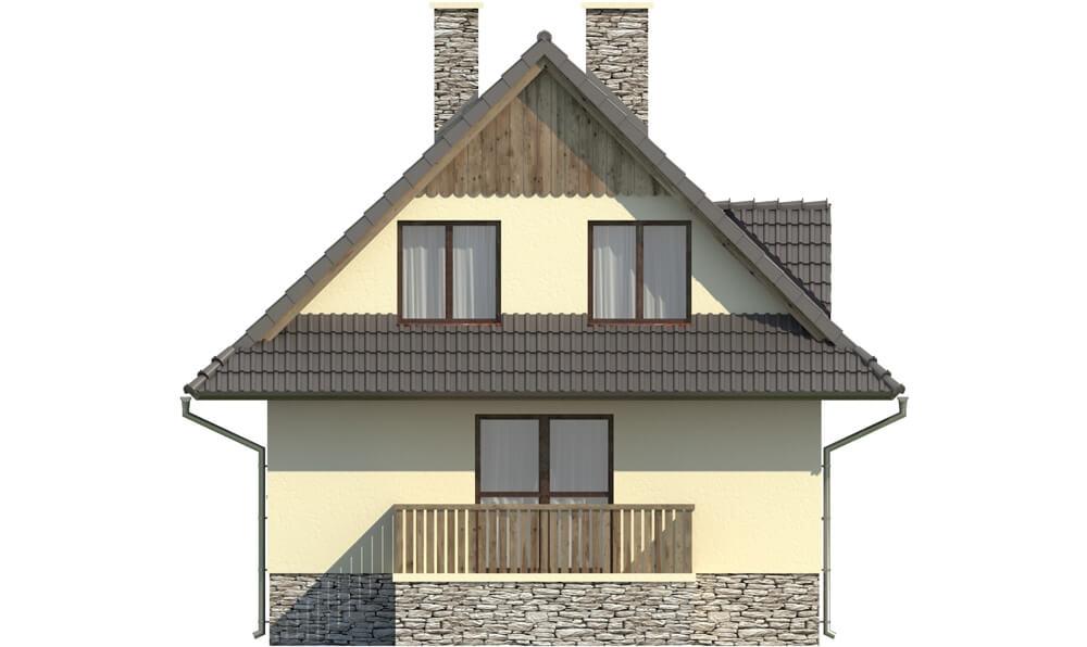 Projekt domu L-6077 - elewacja