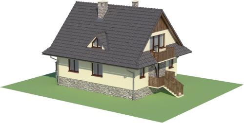 Projekt domu L-6077 - model