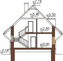 Projekt domu L-6077 - przekrój