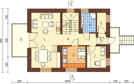 Projekt domu L-6077 - rzut