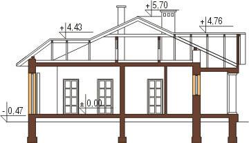 Projekt domu L-6079 - przekrój