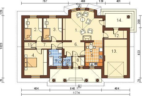Projekt domu L-6079 - rzut