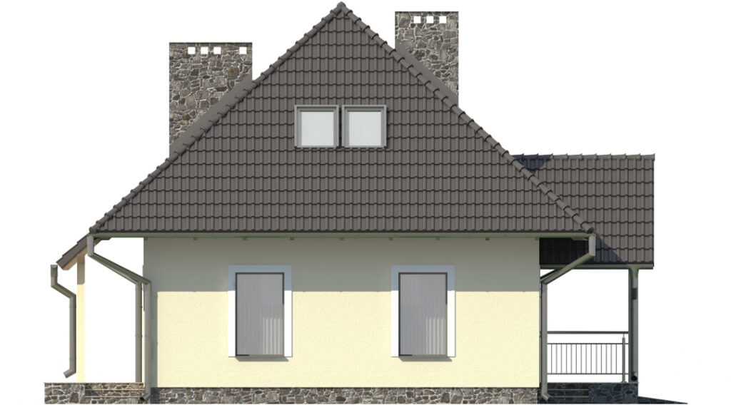 Projekt domu L-6083 - elewacja