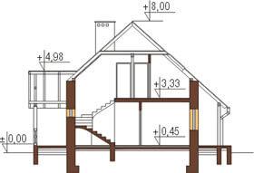 Projekt domu L-6083 - przekrój