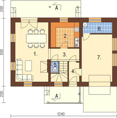 Projekt domu L-6083 - rzut