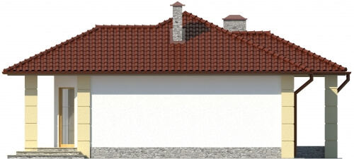 Projekt domu L-6087 - elewacja