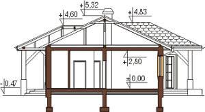 Projekt domu L-6087 - przekrój