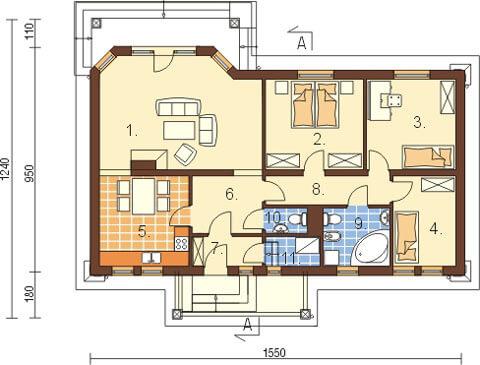 Projekt domu L-6087 - rzut