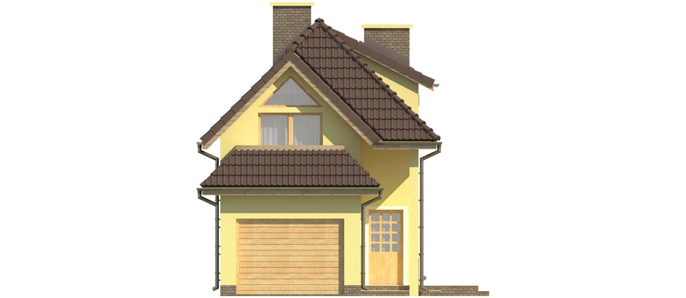 Projekt domu DM-5588 - elewacja