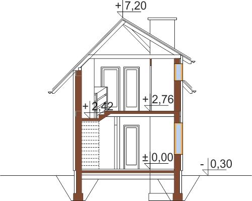 Projekt domu DM-5588 - przekrój