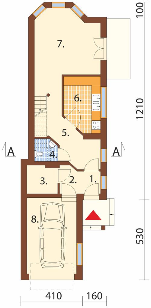 Projekt domu DM-5588 - rzut