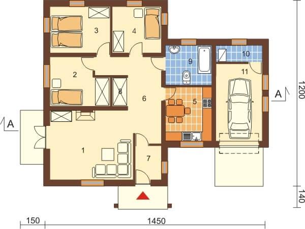 Projekt domu L-6097 - rzut