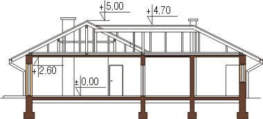 Projekt domu L-6097 - przekrój