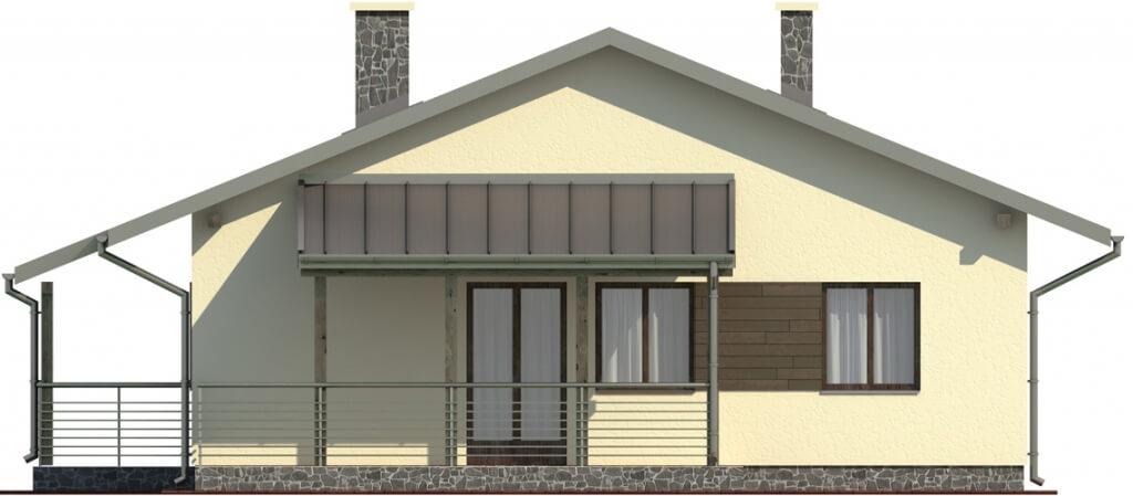 Projekt domu L-6101 - elewacja
