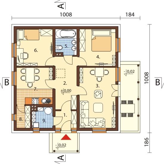 Projekt domu L-6101 - rzut