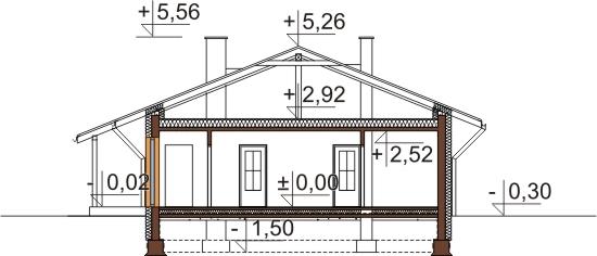Projekt domu L-6101 - przekrój