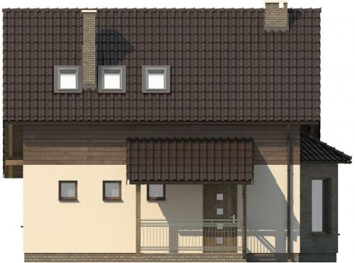 Projekt domu L-6105 - elewacja