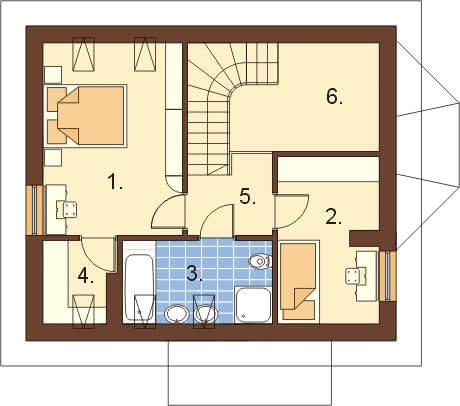 Projekt domu L-6105 - rzut
